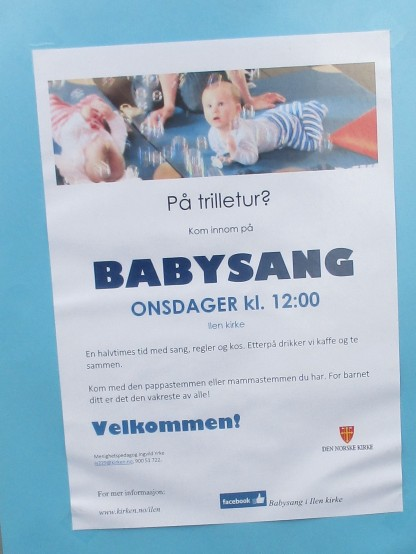 Baby sang poster BIG